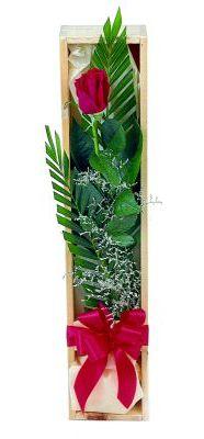 1 adet kutuda kirmizi gül  Adana çiçek yolla çiçek gönderme sitemiz güvenlidir