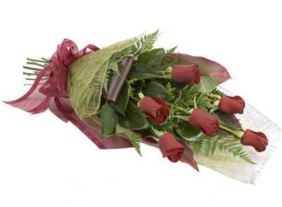 ucuz çiçek siparisi 6 adet kirmizi gül buket  Adana çiçek gönder çiçek siparişi sitesi