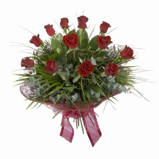 Etkileyici buket 11 adet kirmizi gül buketi  Adana çiçek gönder internetten çiçek satışı
