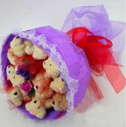 11 adet ayiciktan buket  Adana çiçek siparişi internetten çiçek siparişi