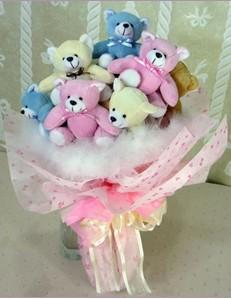 9 adet ayiciktan buket  Adana çiçek siparişi çiçek servisi , çiçekçi adresleri