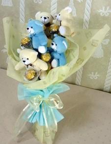 6 adet ayiciktan buket tanzimi  Adana çiçek siparişi cicekciler , cicek siparisi