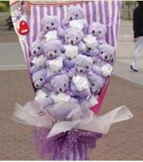 11 adet pelus ayicik buketi  Adana çiçek yolla çiçek gönderme sitemiz güvenlidir