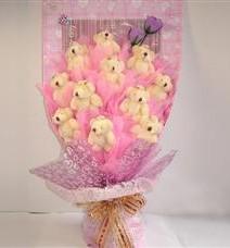 11 adet pelus ayicik buketi  Adana çiçek yolla çiçek yolla