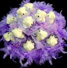 11 adet pelus ayicik buketi  Adana çiçek gönder çiçek , çiçekçi , çiçekçilik