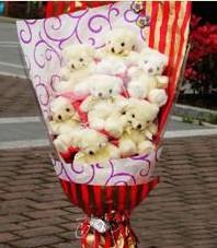 11 adet pelus ayicik buketi  Adana çiçek gönder ucuz çiçek gönder