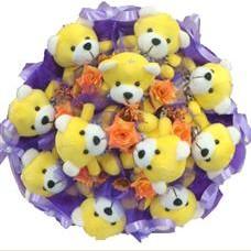 11 adet pelus ayicik buketi  Adana çiçek siparişi çiçek mağazası , çiçekçi adresleri