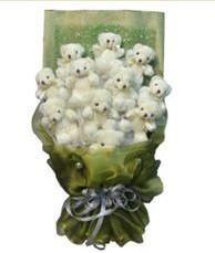 11 adet pelus ayicik buketi  Adana çiçek siparişi online çiçek gönderme sipariş