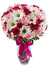 Adana çiçek gönder çiçek siparişi sitesi  Karisik mevsim kir çiçegi vazosu