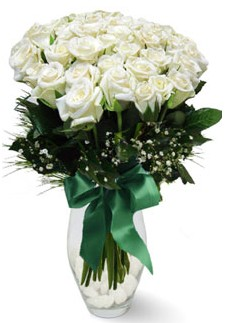 19 adet essiz kalitede beyaz gül  Adana çiçek siparişi çiçekçiler