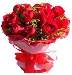 9 adet kirmizi güllerden kipkirmizi buket  Adana çiçek siparişi çiçekçiler