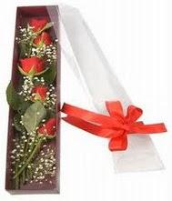 kutu içinde 5 adet kirmizi gül  Adana çiçek siparişi internetten çiçek siparişi