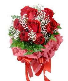 9 adet en kaliteli gülden kirmizi buket  Adana çiçek siparişi çiçek servisi , çiçekçi adresleri