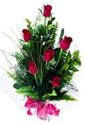 Adana çiçek siparişi güvenli kaliteli hızlı çiçek  5 adet kirmizi gül buketi hediye ürünü