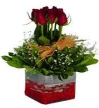 Adana çiçek yolla çiçek gönderme  7 adet mika yada cam vazoda gül tanzimi