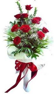 Adana çiçek gönder ucuz çiçek gönder  10 adet kirmizi gül buketi demeti