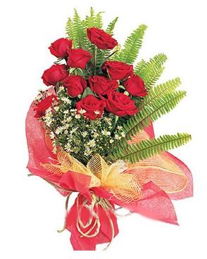 Adana çiçek yolla İnternetten çiçek siparişi  11 adet kırmızı güllerden buket modeli