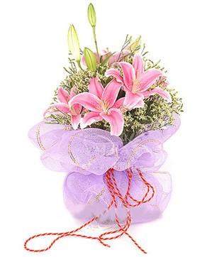 3 dal kazablanka görsel buketi  Adana çiçek gönder internetten çiçek satışı