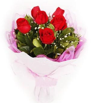 Adana çiçek siparişi hediye sevgilime hediye çiçek  kırmızı 6 adet gülden buket