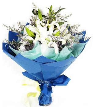 Adana çiçek siparişi anneler günü çiçek yolla  4 adet dal kazablankadan görsel buket