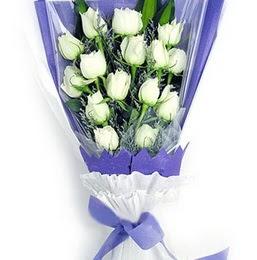 Adana çiçek gönder çiçekçi mağazası  11 adet beyaz gül buket modeli
