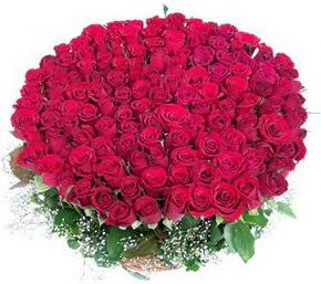 Adana çiçek siparişi online çiçekçi , çiçek siparişi  100 adet kırmızı gülden görsel buket