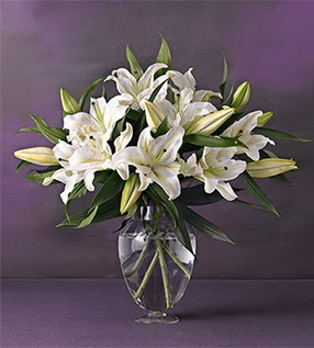 Adana çiçek yolla İnternetten çiçek siparişi  4 dal cazablanca vazo çiçeği