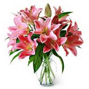 3 dal kazablanka görsel vazosu  Adana çiçek siparişi internetten çiçek siparişi