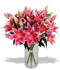4 dal cazablanca görsel vazosu  Adana çiçek gönder çiçekçi mağazası