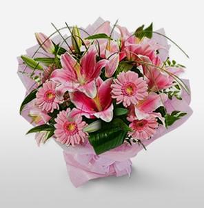 1 dal kazablanka ve kır çiçek görsel buketi  Adana çiçek gönder internetten çiçek satışı