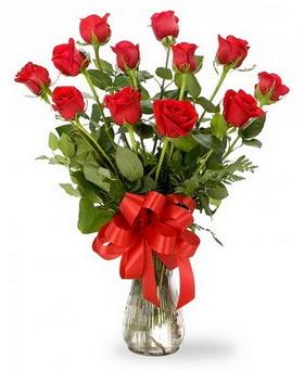 Adana çiçek gönder çiçek , çiçekçi , çiçekçilik  12 adet kırmızı güllerden vazo tanzimi