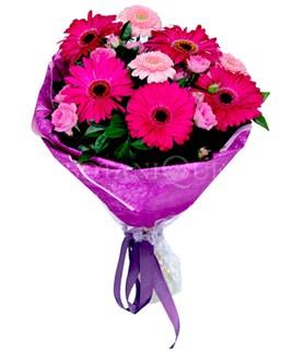 Adana çiçek gönder çiçek siparişi sitesi  karışık gerbera çiçeği buketi