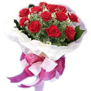 Adana çiçek yolla çiçek satışı  11 adet kırmızı güllerden buket modeli