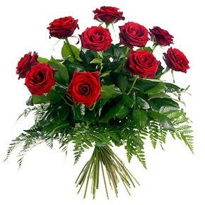 Adana çiçek yolla çiçek gönderme  10 adet kırmızı gülden buket