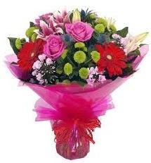 Karışık mevsim çiçekleri demeti  Adana çiçek siparişi online çiçek gönderme sipariş