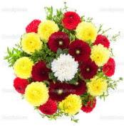 Adana çiçek gönder çiçekçi mağazası  13 adet mevsim çiçeğinden görsel buket
