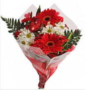 Mevsim çiçeklerinden görsel buket  Adana çiçek siparişi çiçekçiler