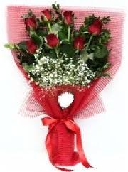 7 adet kırmızı gülden buket tanzimi  Adana çiçek siparişi cicek , cicekci