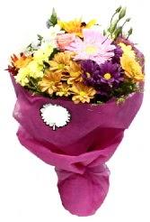 1 demet karışık görsel buket  Adana çiçek siparişi anneler günü çiçek yolla