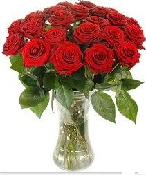 Adana çiçek siparişi çiçek mağazası , çiçekçi adresleri  Vazoda 15 adet kırmızı gül tanzimi