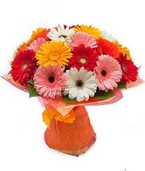 Renkli gerbera buketi  Adana çiçek siparişi anneler günü çiçek yolla