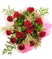12 adet kırmızı gül buketi  Adana çiçek siparişi 14 şubat sevgililer günü çiçek