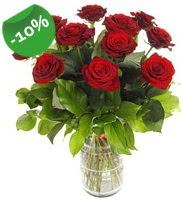 11 adet vazo içerisinde kırmızı gül  Adana çiçek siparişi online çiçek gönderme sipariş