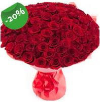 Özel mi Özel buket 101 adet kırmızı gül  Adana çiçek siparişi anneler günü çiçek yolla