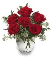 Vazo içerisinde 5 adet kırmızı gül  Adana çiçek gönder çiçekçi mağazası