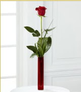 Vazo içerisinde 1 adet kırmızı gül  Adana çiçek siparişi internetten çiçek siparişi
