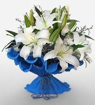 4 dal kazablanka çiçeğinden buket  Adana çiçek siparişi cicek , cicekci
