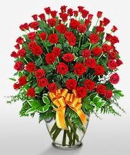 Görsel vazo içerisinde 101 adet gül  Adana çiçek siparişi cicek , cicekci