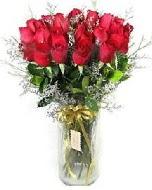 27 adet vazo içerisinde kırmızı gül  Adana çiçek yolla İnternetten çiçek siparişi