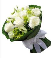9 adet beyaz gül buketi  Adana çiçek gönder çiçek siparişi sitesi